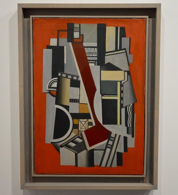 Élément mécanique sur fond rouge (1924)