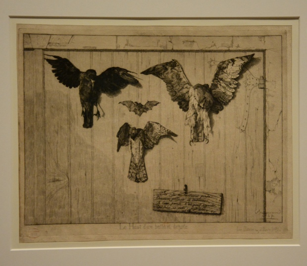 """""""Parte superior del batiente de una puerta"""" por Félix Bracquemond. 1852. BNF."""