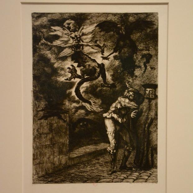"""""""¡Fuera de mi sol, canallas! por Félix Bracquemond, 1854. BNF"""