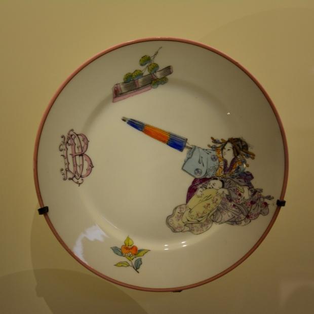 """Félix Bracquemond, Manufactura Haviland & Co. """"Servicio Figuras y accesorios japoneses"""". Entre 1877 y 1878. Petit Palais."""