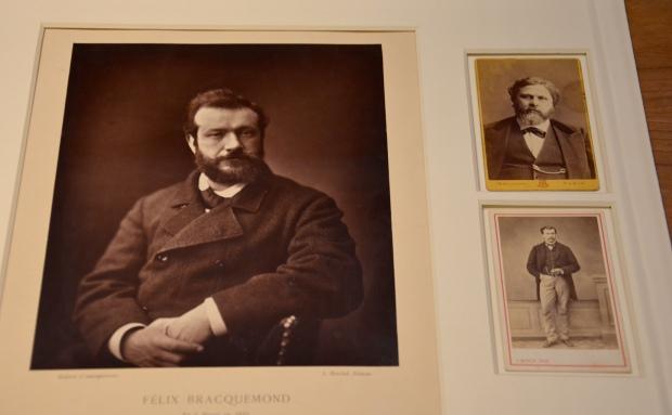 """Retrato de Félix Bracquemond, """"La galería contemporána"""", por Émile Courtin, prueba fotomecánica, 1876"""