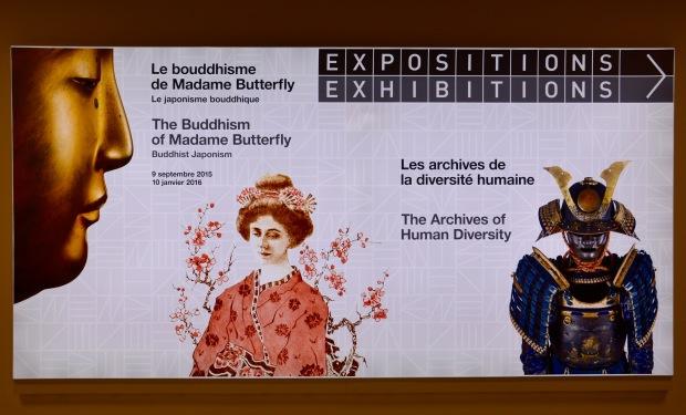 Póster en el Museo de Etnografía de Ginebra, Suiza