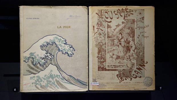 Ilustraciones de obras inspiradas por imágenes japonesas
