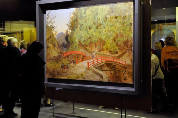 El puente de Nikko por Félix Régamey. Inauguración de la exposición.