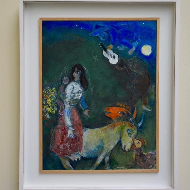 """Marc Chagall. """"La guitare endormie"""" (1942-1943). Kunsthaus. Zürich."""