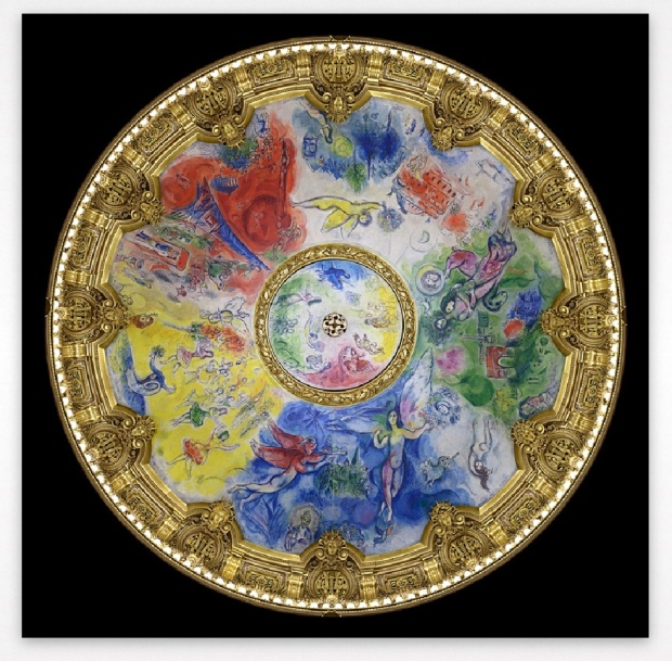 Marc Chagall. Plafón de la Ópera Garnier (1963-64). Digitalizado para el Google Art Project.