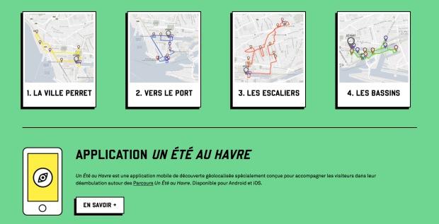 Itinéraires et application